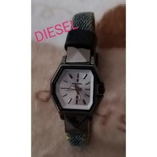 ディーゼル(DIESEL)の*summer sale* DIESEL 腕時計 デニム×レザー レディース(腕時計)