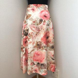STRAWBERRY-FIELDS - 新品♪ストロベリーフィールズ ローズ柄スカート ピンク S〜M