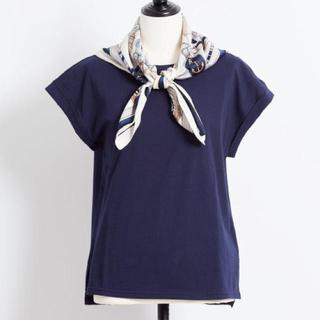 Noela - noela スカーフ付カットソー Tシャツ