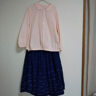 mina perhonen - サリースコットsallyscott 八分袖ブラウス ピンク