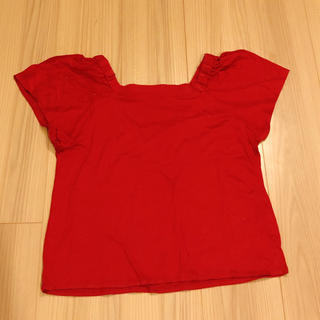 クリアインプレッション(CLEAR IMPRESSION)の【M】赤 トップス(カットソー(半袖/袖なし))