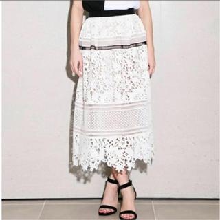 FRAY I.D - フレイアイディー レーススカート ホワイト 白