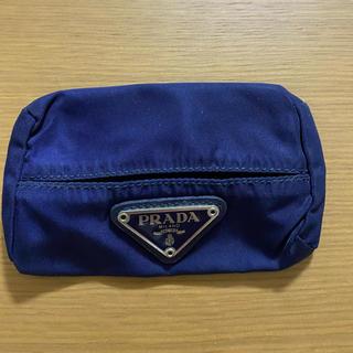 PRADA - 「美品」プラダ  ティッシュケース 化粧ポーチ 小物入れ