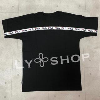 GYDA - GYDA 新品 FILA BACK LINE BIG Tシャツ ブラック