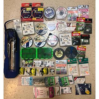 SHIMANO - 磯釣り用品大量セット ライン 竿立て 針 ガン玉 ウキゴム シマノ ダイワ