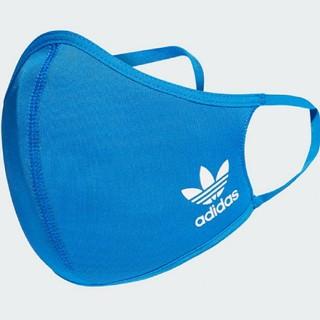 adidas - フェイスカバー 大人用 ブルー 1枚