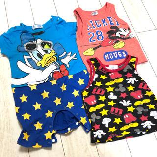 Disney - ディズニー 男の子 服 セット ロンパース タンクトップ