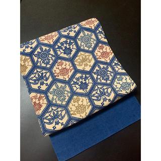 ㊗️本藍染㊗️正絹紅型染名古屋帯㊗️亀甲紋㊗️九寸㊗️