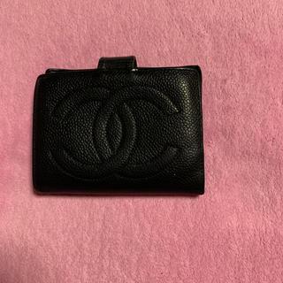 シャネル(CHANEL)のシャネルキャビアスキン(折り財布)