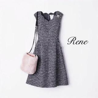 René - 【Rene】ビジュースカラップワンピース