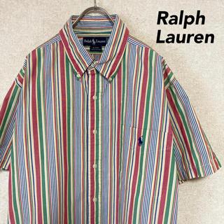 ラルフローレン(Ralph Lauren)のラルフローレン 半袖 シャツ 古着 ストライプ メンズ レディース S M(シャツ)