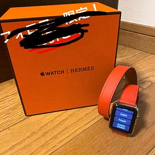 アップルウォッチ(Apple Watch)の<極美品>Apple Watch エルメス 初代 ドゥブルトゥール(腕時計(デジタル))