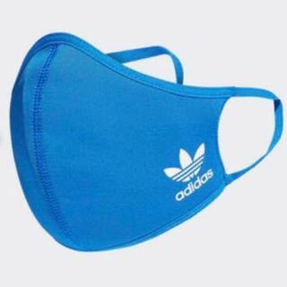 adidas - adidas face cover 大人用 1枚 青 ブルー