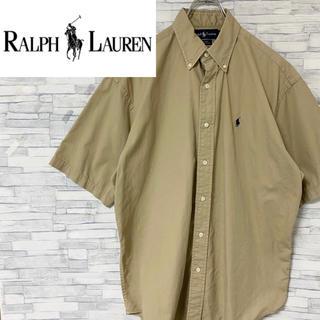 ラルフローレン(Ralph Lauren)の90s ラルフローレン BD半袖シャツ 刺繍ロゴ アースカラー M (大きめ)(シャツ)