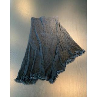 専用♡カナダデザイナーブランド 柔らかチュールレースアシンメトリーフレアスカート(ひざ丈スカート)