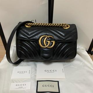 Gucci - GUCCI GGマーモント キルティング チェーンショルダーバッグ