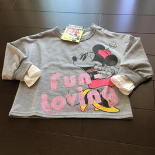 Disney - ミニーちゃん 長袖Tシャツ 100cm 90周年記念