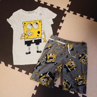 H&M - H&M スポンジ・ボブ Tシャツ&ハーフパンツ 120/130 新品
