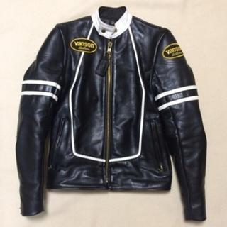 バンソン(VANSON)のVANSON ライダースジャケット シングル 本革 size34(ライダースジャケット)