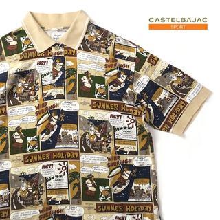 カステルバジャック(CASTELBAJAC)のカステルバジャック コミック風アニマル◎総柄ポロシャツ(ポロシャツ)