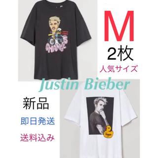 エイチアンドエム(H&M)の2枚セット ジャスティンビーバー H&M 公式コラボ Changes サイズM(Tシャツ(半袖/袖なし))