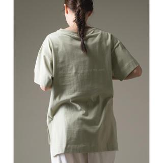 Mila Owen - 【新品】OMNES ファインコットン ロゴプリント半袖Tシャツ
