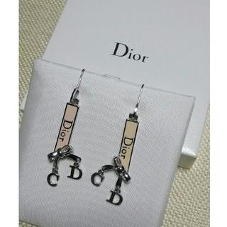 クリスチャンディオール(Christian Dior)のディオール★Diorロゴリボンピアス(ピアス)