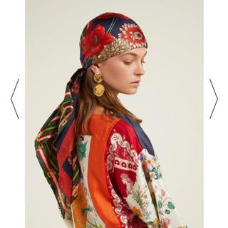 グッチ(Gucci)のGUCCI フローラ ヘッドスカーフ リボン ストーン付き(その他)