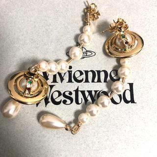 Vivienne Westwood - ヴィヴィアンウエストウッド ブロークンパールピアス ゴールド 刻印