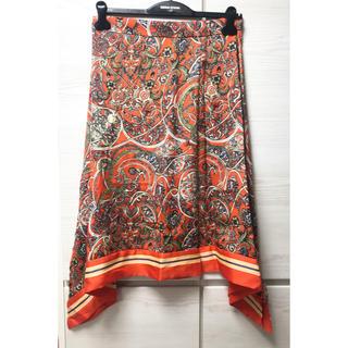 エイチアンドエム(H&M)のタグ付き H&M ペイズリー柄 スカート(ひざ丈スカート)