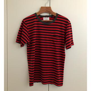 アダムエロぺ(Adam et Rope')の数回着用 美品  アダムエロペ  赤xネイビー  胸ポケTシャツ  サイズM(Tシャツ/カットソー(半袖/袖なし))