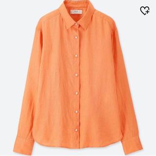 UNIQLO - 【新品未開封】 ユニクロ プレミアムリネンシャツ オレンジ Mサイズ
