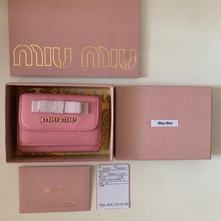 miumiu - miumiu ミュウミュウ 三つ折り財布 リボン