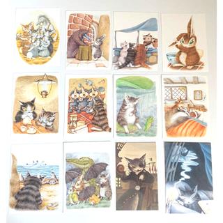 わちふぃーるど Wachifield ダヤン ポストカードまとめ売り12枚+1枚(使用済み切手/官製はがき)