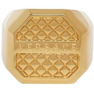 ヴェルサーチ(VERSACE)のVersace ヴェルサーチ ゴールド オクタゴナル リング イタリア19号(リング(指輪))