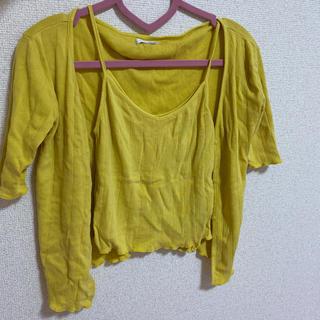 ジェイダ(GYDA)のGYDA キャミソール、カーディガン2点セット(Tシャツ/カットソー)