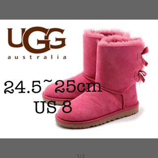 アグ(UGG)の箱付き正規品 Ugg ピンクブーツ サイズ24.5〜8(ブーツ)