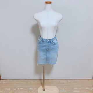 エイチアンドエム(H&M)の【新品】 H&M 切りっぱなし デニムスカート(ミニスカート)