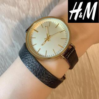 エイチアンドエム(H&M)のH&M 2連デザインベルト腕時計 ブラック(腕時計)