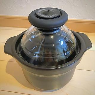 ハリオ(HARIO)のHARIO フタがガラスのご飯釜 1合用(鍋/フライパン)