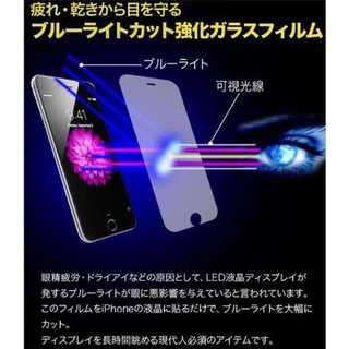 ピンク大人気 ブルーライト ガラスフィルム  目の保護!