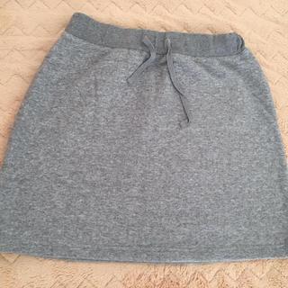 ムジルシリョウヒン(MUJI (無印良品))の【新品】無印  グレーのスウェットスカート(ひざ丈スカート)