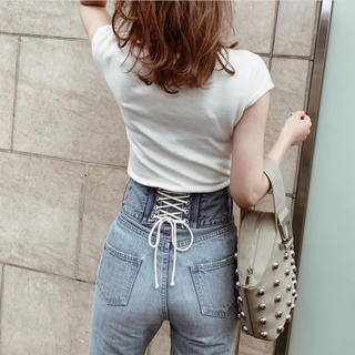 eimy istoire - 定価¥16489♡Darichダーリッチ♡ バックレース フレアデニムパンツ ♡