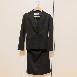 パンツ スカートスーツ ブラックフォーマル レディーススーツ 9号 ストライプ