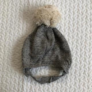 ベビーギャップ(babyGAP)の【新品未使用】baby GAP ポンポンニット帽(51㎝)(帽子)