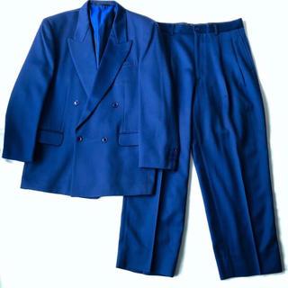 Yohji Yamamoto - 90s 古着 ヴィンテージ セットアップ ネイビー 紺 青 ブルーリトルビッグ