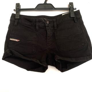 ディーゼル(DIESEL)のディーゼル ショートパンツ サイズ25 XS 黒(ショートパンツ)