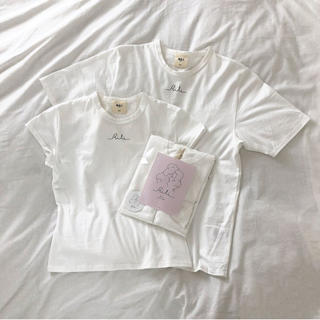 one after another NICE CLAUP - RiLi 白 Tシャツ チビT