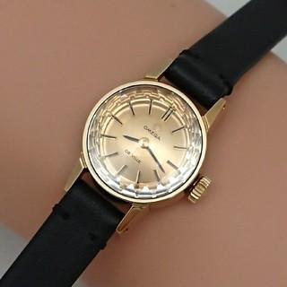 オメガ(OMEGA)のOH済 1969年製 オメガ デビル カットガラス ゴールド色レディース 極美品(腕時計)