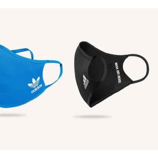 adidas - フェイスカバー adidas Sサイズ 黒青各1枚ずつ
